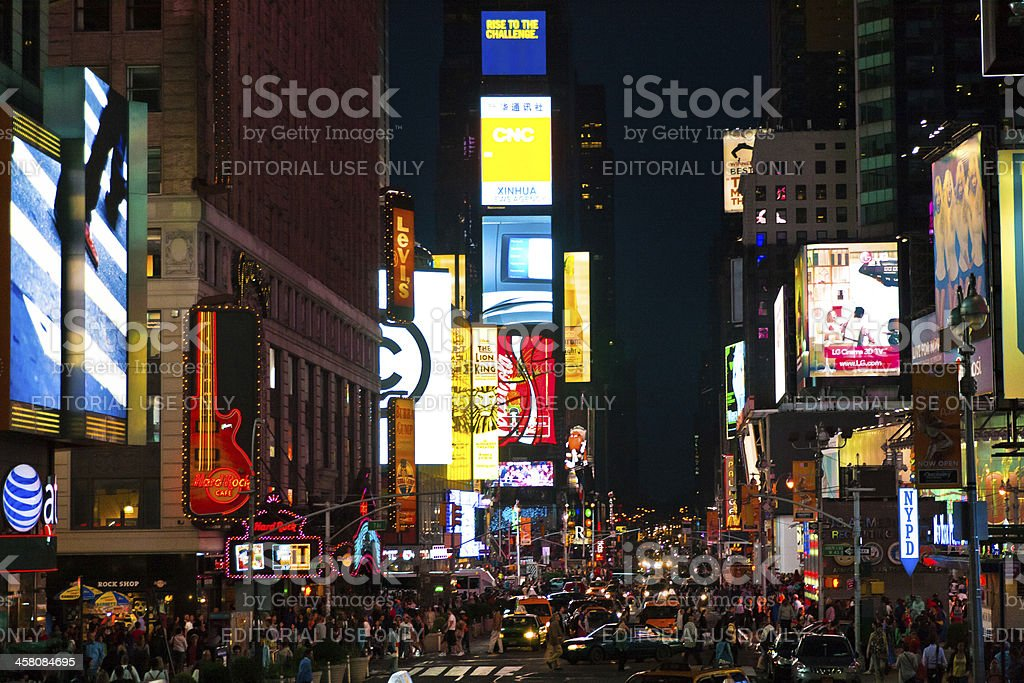 Times Square urban night scene royalty-free stock photo