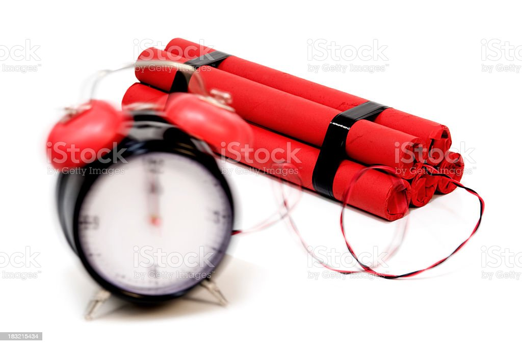 Time's UP!!! Bomb stock photo