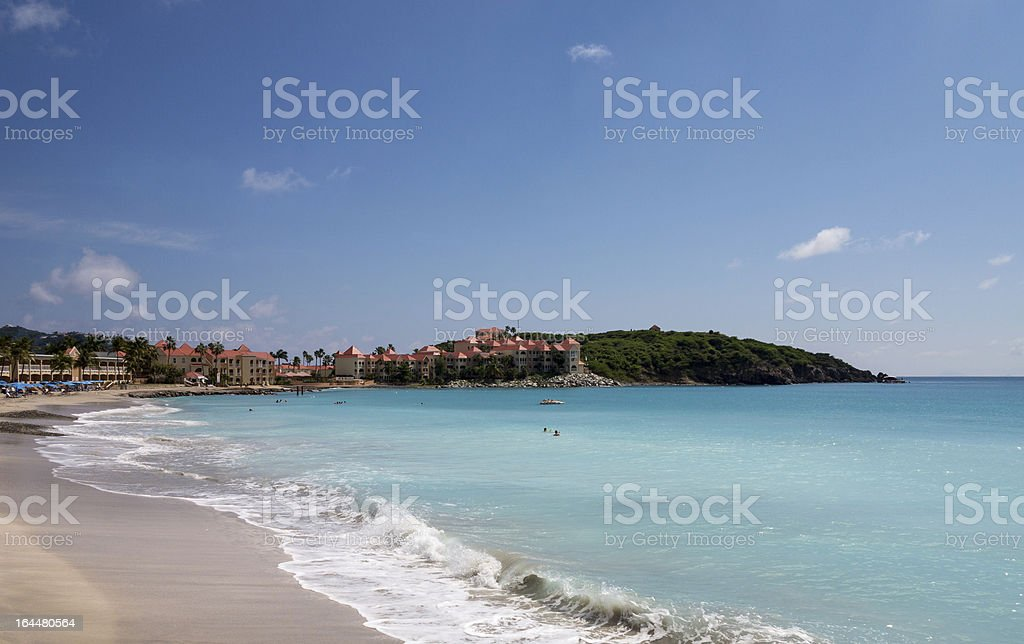 Timeshare apartment hotel in St Martin stock photo