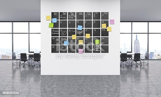 istock Timetable in office 609083340