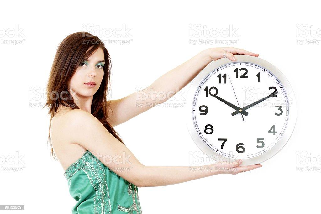 시간-여자대표 royalty-free 스톡 사진