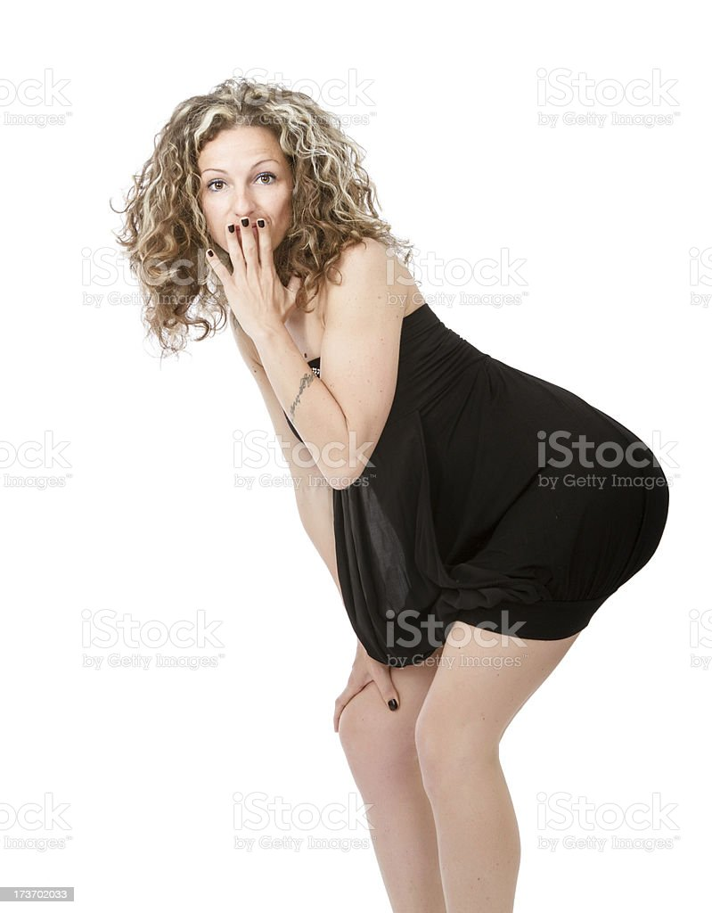 timidity for woman royalty-free stock photo