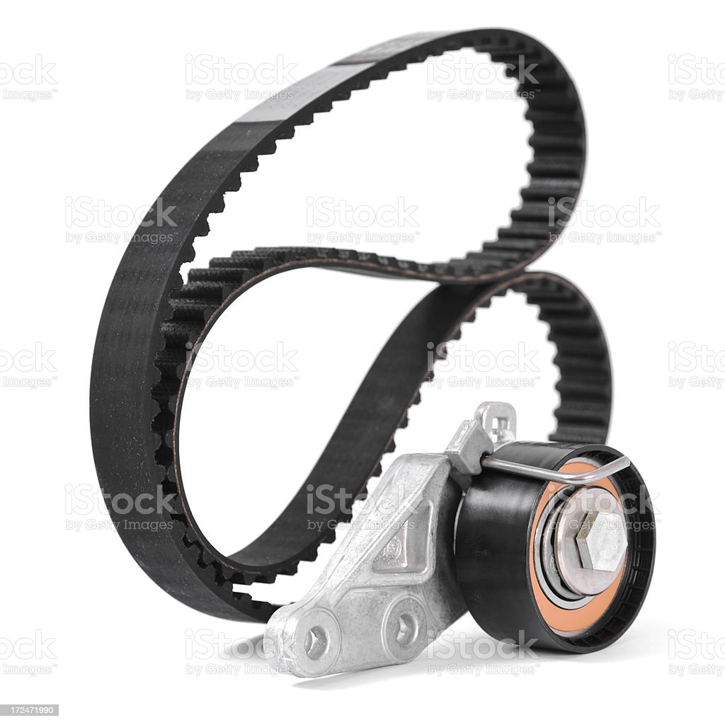 Timing belt and tensioner royalty-free stock photo