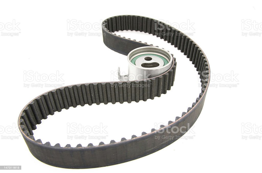 timing belt isolated royalty-free stock photo