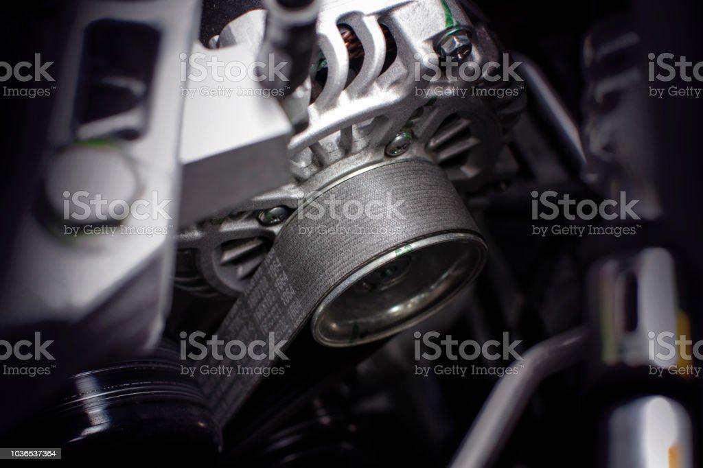 Timing belt of alternator. stock photo