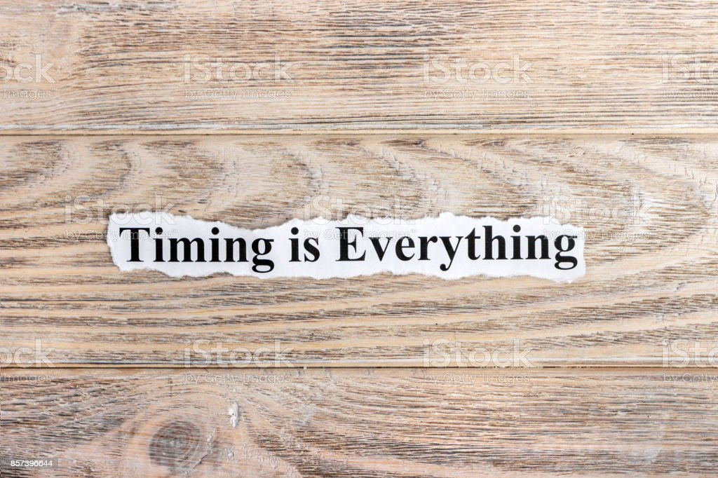 Timing is Everything text on paper. Word Timing is Everything on torn paper. Concept Image stock photo