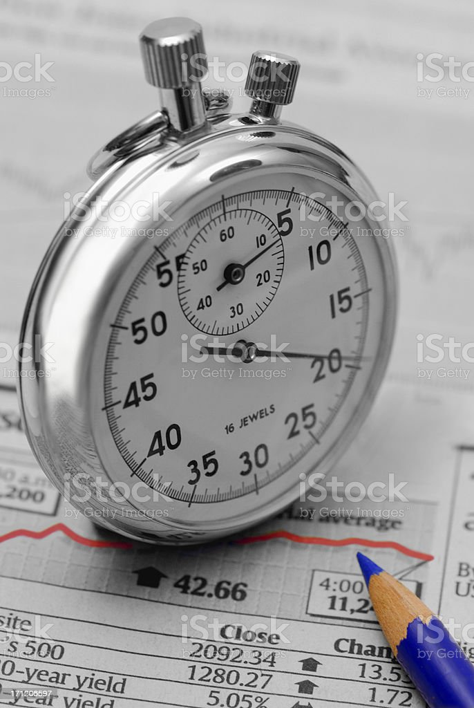 Timing The Stock Market royalty-free stock photo