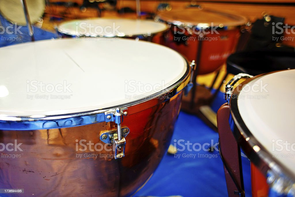 Timpani In Orchestra royalty-free stock photo