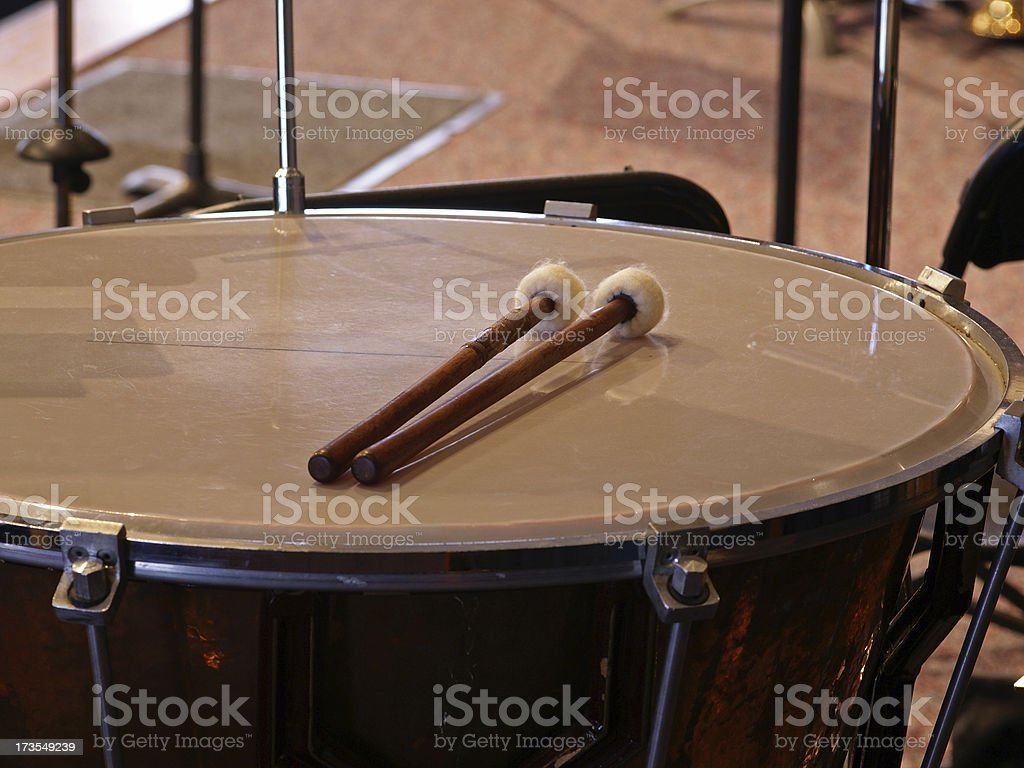 Timpani Mallets stock photo