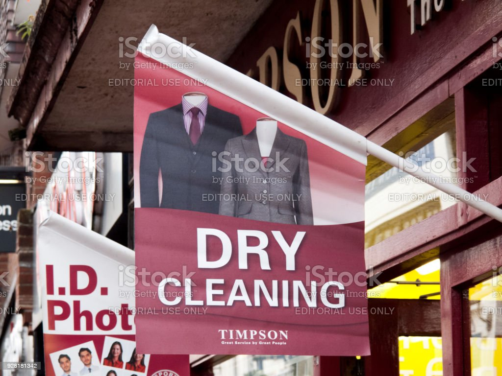 Timpson dry cleaning stock photo