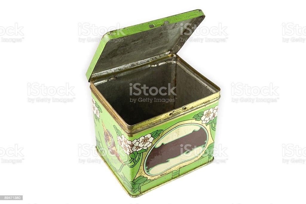 Estaño caja abierta foto de stock libre de derechos