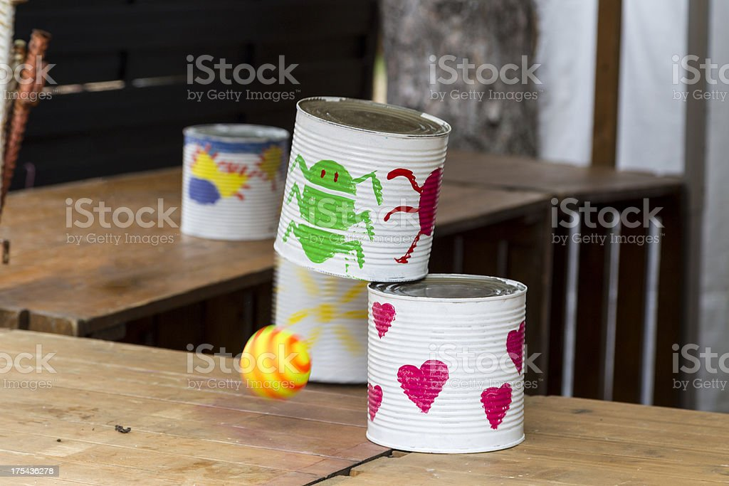 Tin Can Alley Toss stock photo