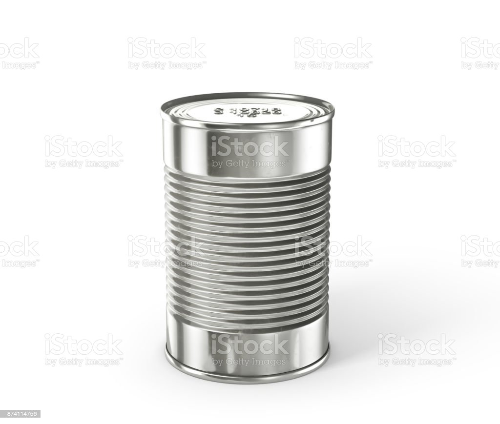 Tin can isolated on a white stock photo