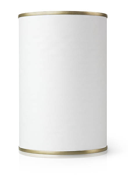 Tin Can isolated on white stock photo