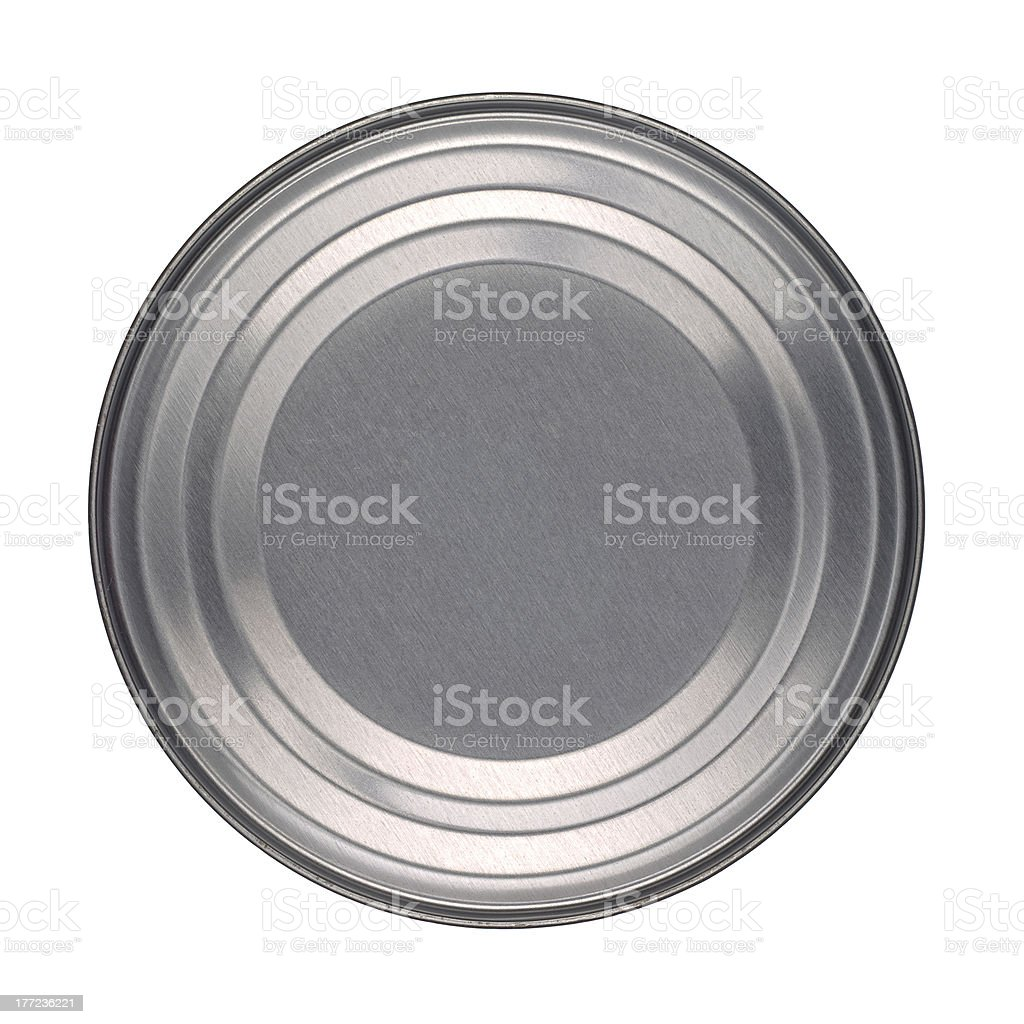 Tin Can Lid or Base stock photo