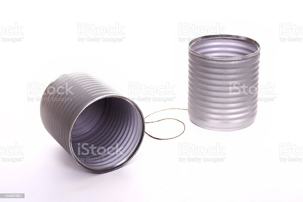 Tin can phone royalty-free stock photo