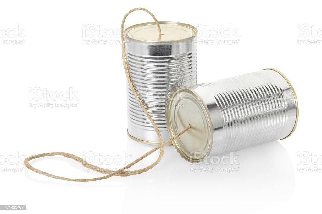 Tin can phone royalty-free stock photo