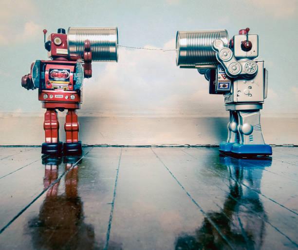 zinn kann roboter telefonieren - converse taylor stock-fotos und bilder