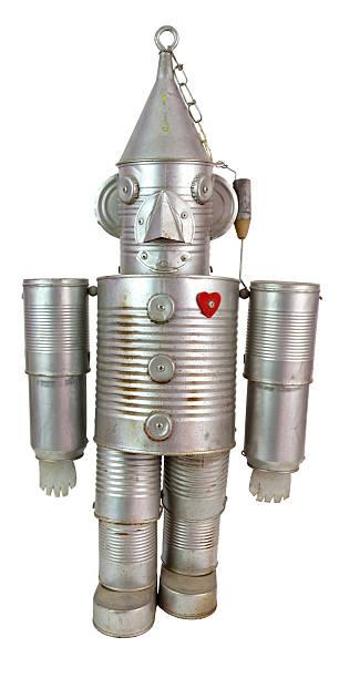 tin können roboter - blech stock-fotos und bilder