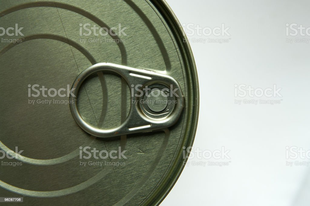 Tin can top royalty-free stock photo