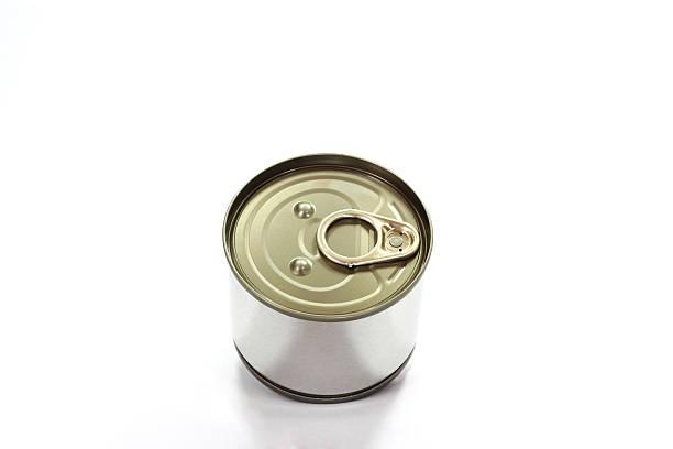 lata de estanho e abridor com anel - lata comida gato imagens e fotografias de stock
