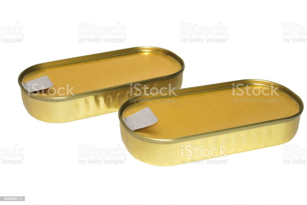 Tin cans stock photo