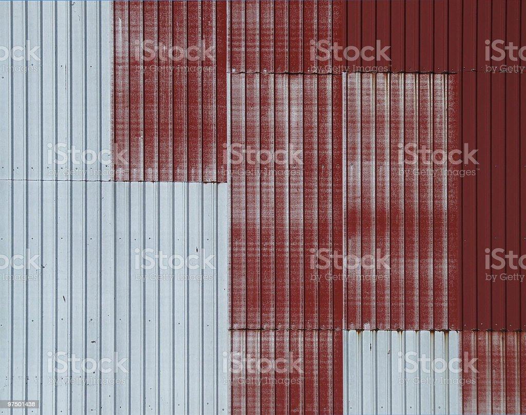 Tin corrugated wall background royalty-free stock photo