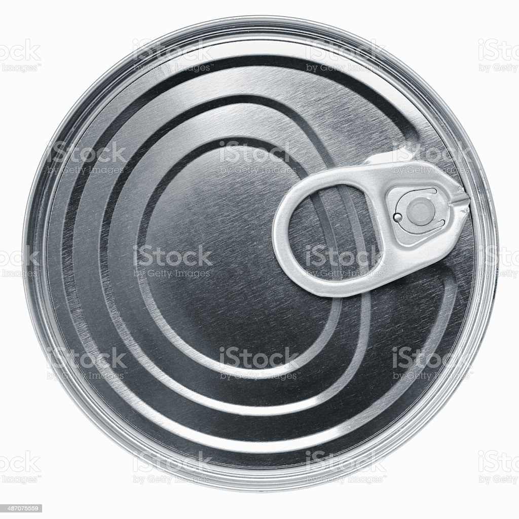 Tin food can isolated royalty-free stock photo