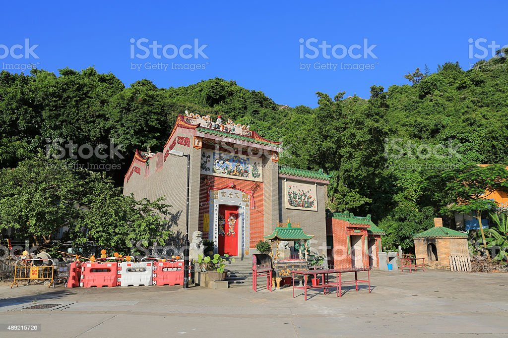 Tin Hau Temple at Lamma Island stock photo