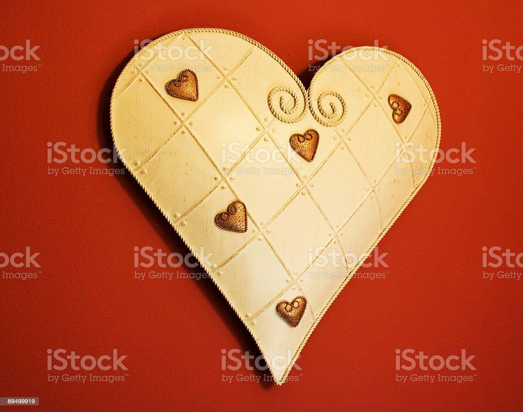tin heart royaltyfri bildbanksbilder