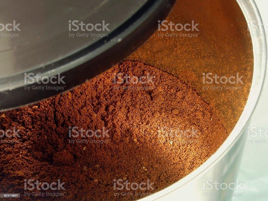 tin of coffee royalty-free stock photo