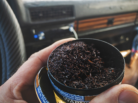 Tin Of Mint Chewing Tobacco Stock Photo - Download Image Now
