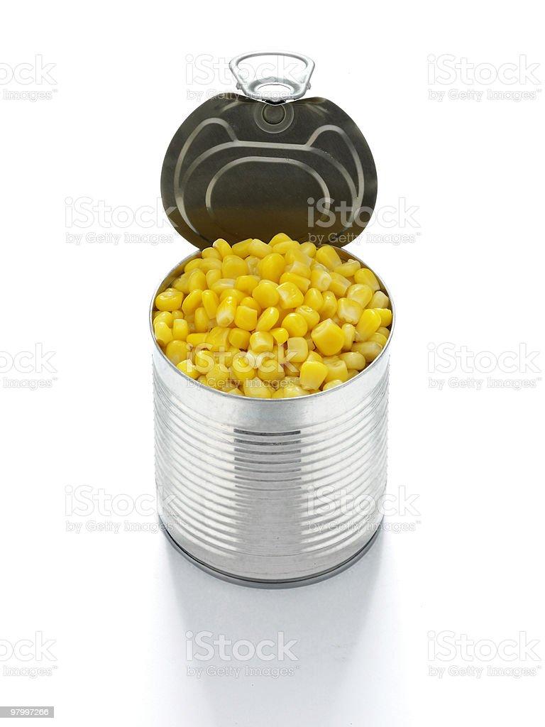 tin of sweet corn royalty free stockfoto