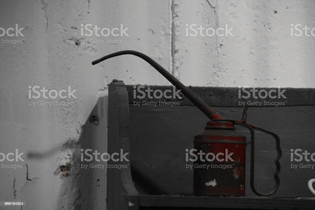 Tin Oil IN A Factory - Royalty-free Bottle Stock Photo