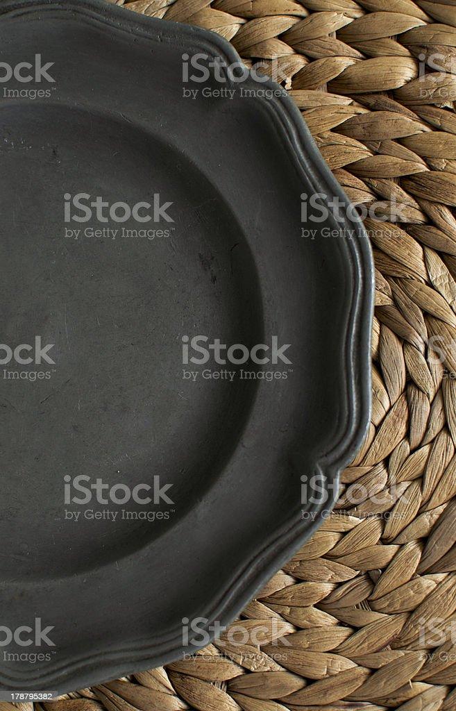 Tin Teller auf Gras-Matte – Foto