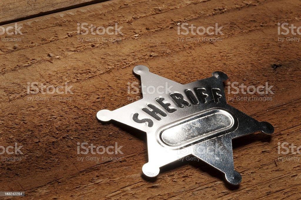 Tin Sheriff's Badge royalty-free stock photo