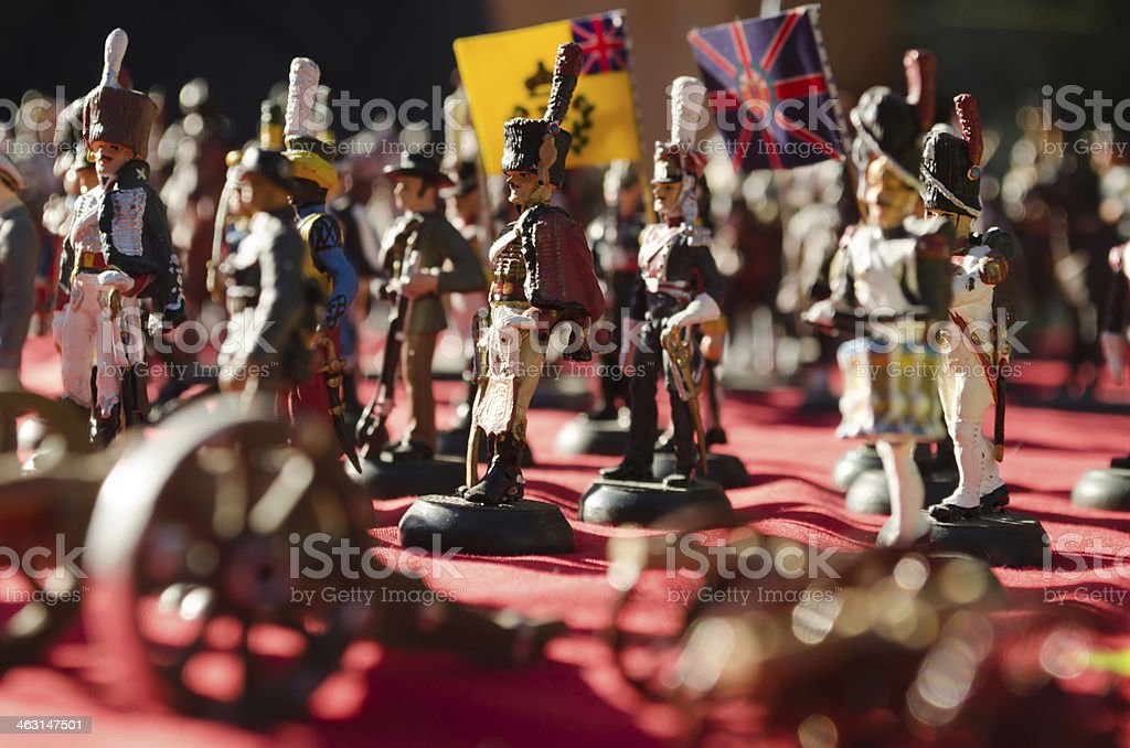 Tin soldiers stock photo