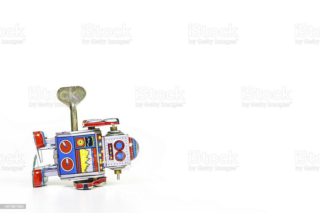 Tin Spielzeug-Roboter mit text-Platz – Foto