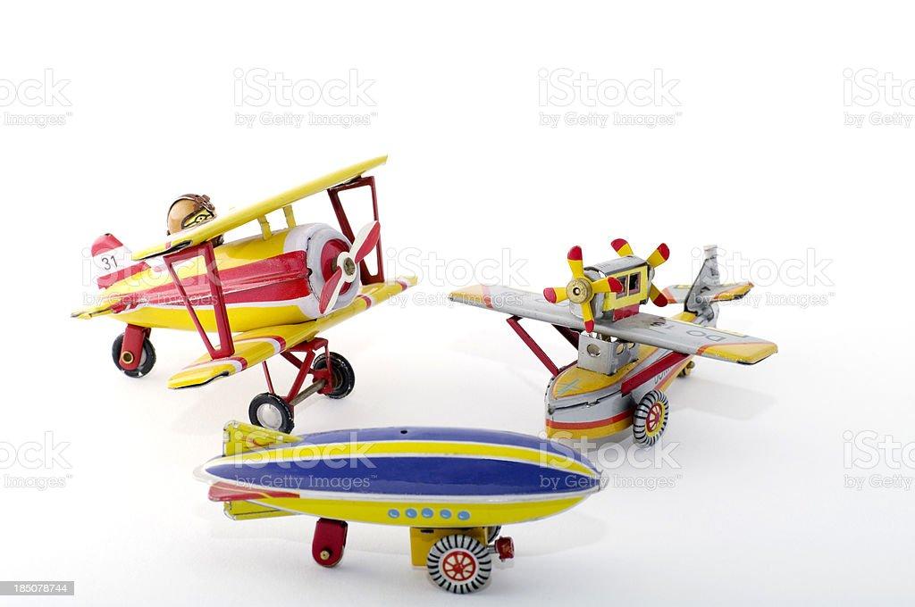 Tin Spielzeug: Flugzeuge, Zeppelin – Foto
