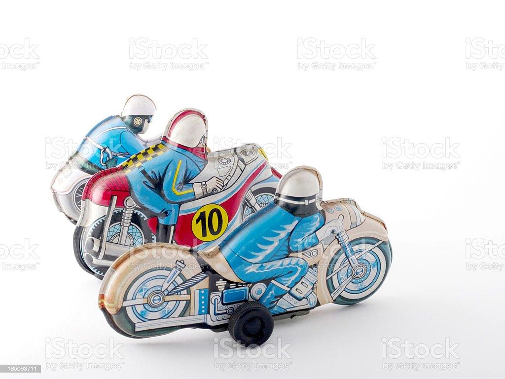 Tin Toys: MotorCycles royalty-free stock photo