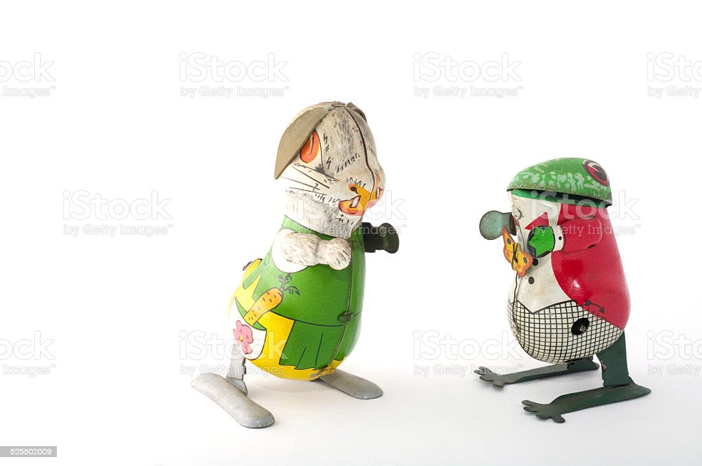 Tin Toys: Rabbit & Frog with Cloth on foto