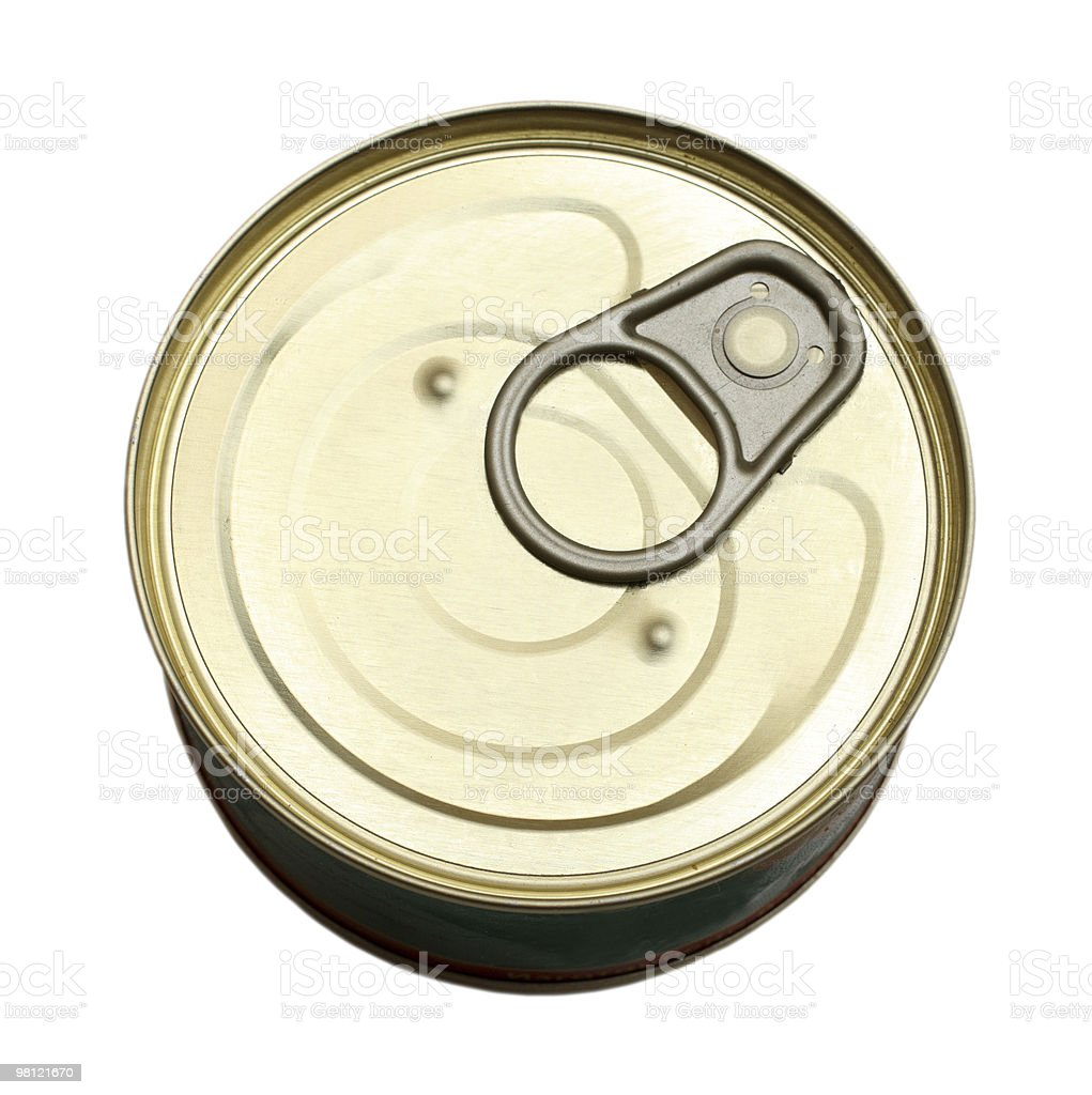 tin with canned goods royalty-free stock photo