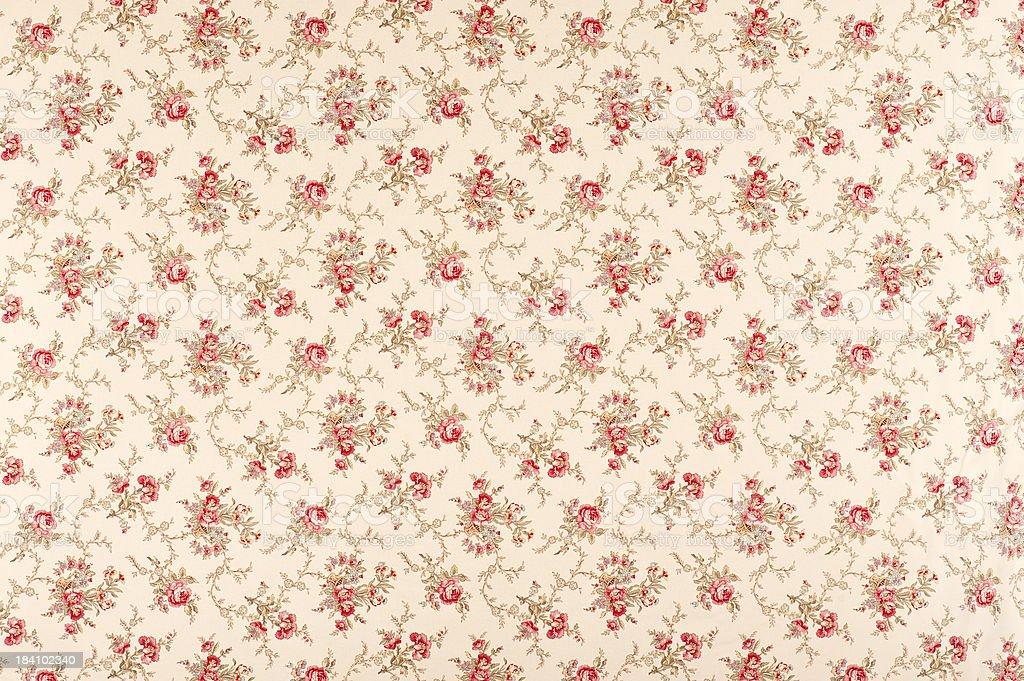 Tina Floral Antique Fabric stock photo