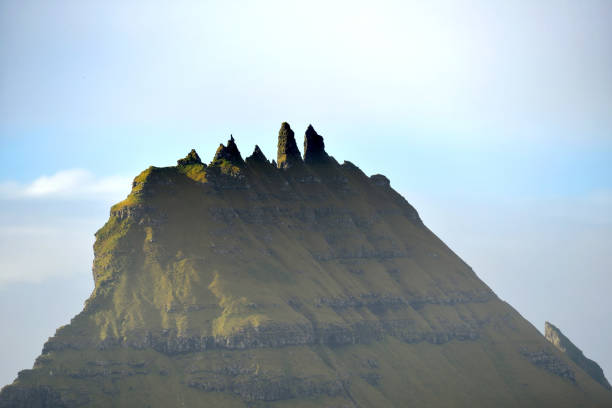 tindhólmur - imagean faroe islands stock photos and pictures