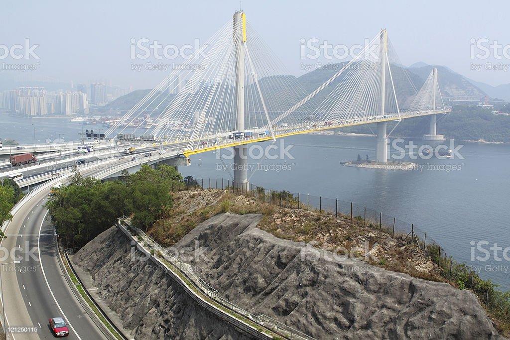 Ting Kau bridge royalty-free stock photo