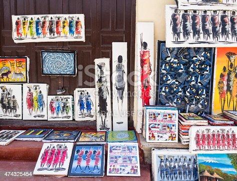 istock Tinga tinga paintings in Tanzania 474325454