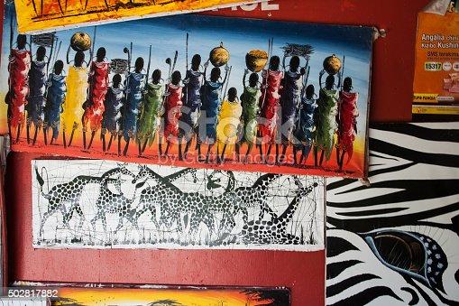 istock Tinga tinga paintings in Tanzania 502817882