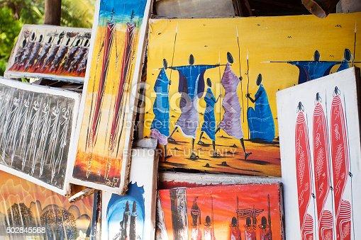 istock Tinga tinga paintings in Tanzania 502845568