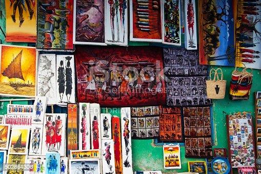 istock Tingatinga paintings in Tanzania 502864306
