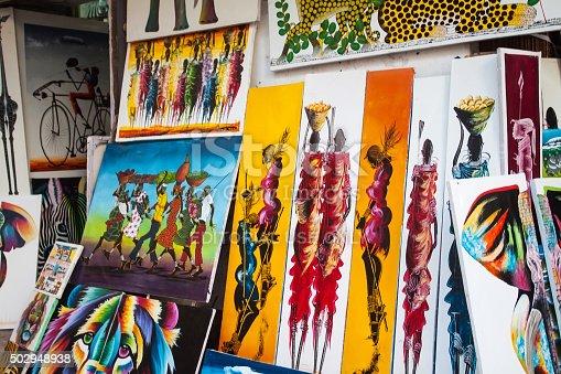istock Tingatinga paintings in Tanzania 502948938